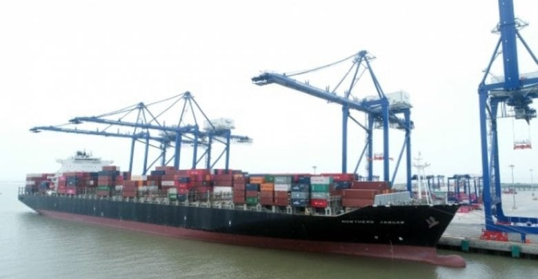 Inaugural Haiphong call on direct transpacific container service
