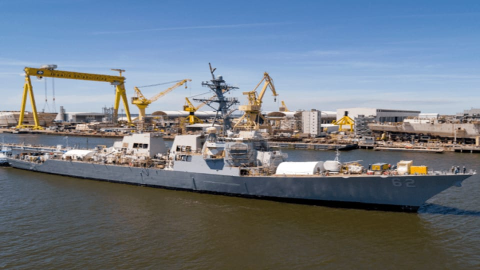 USS Fitzgerald Leaves Mississippi Dry Dock After More Than A Year Of Repairs