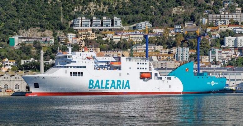 Gibdock Completes Major LNG Conversion on Baleària Ferry Napoles