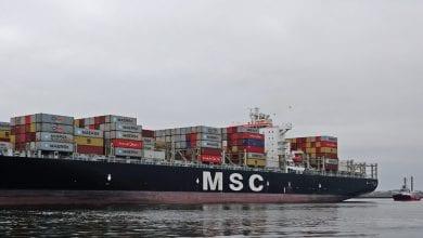 MSC Boxship Starts to List at Liverpool Port