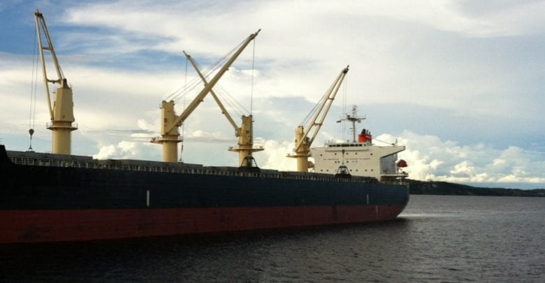 Cosco Bulker Aground between Argentina and Uruguay