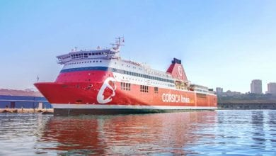 Corsica Linea Ferries Shutting Off Engines in Port of Marseille