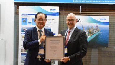 Photo of DSME Collects Ethylene Carrier Tank AIPs from DNV GL