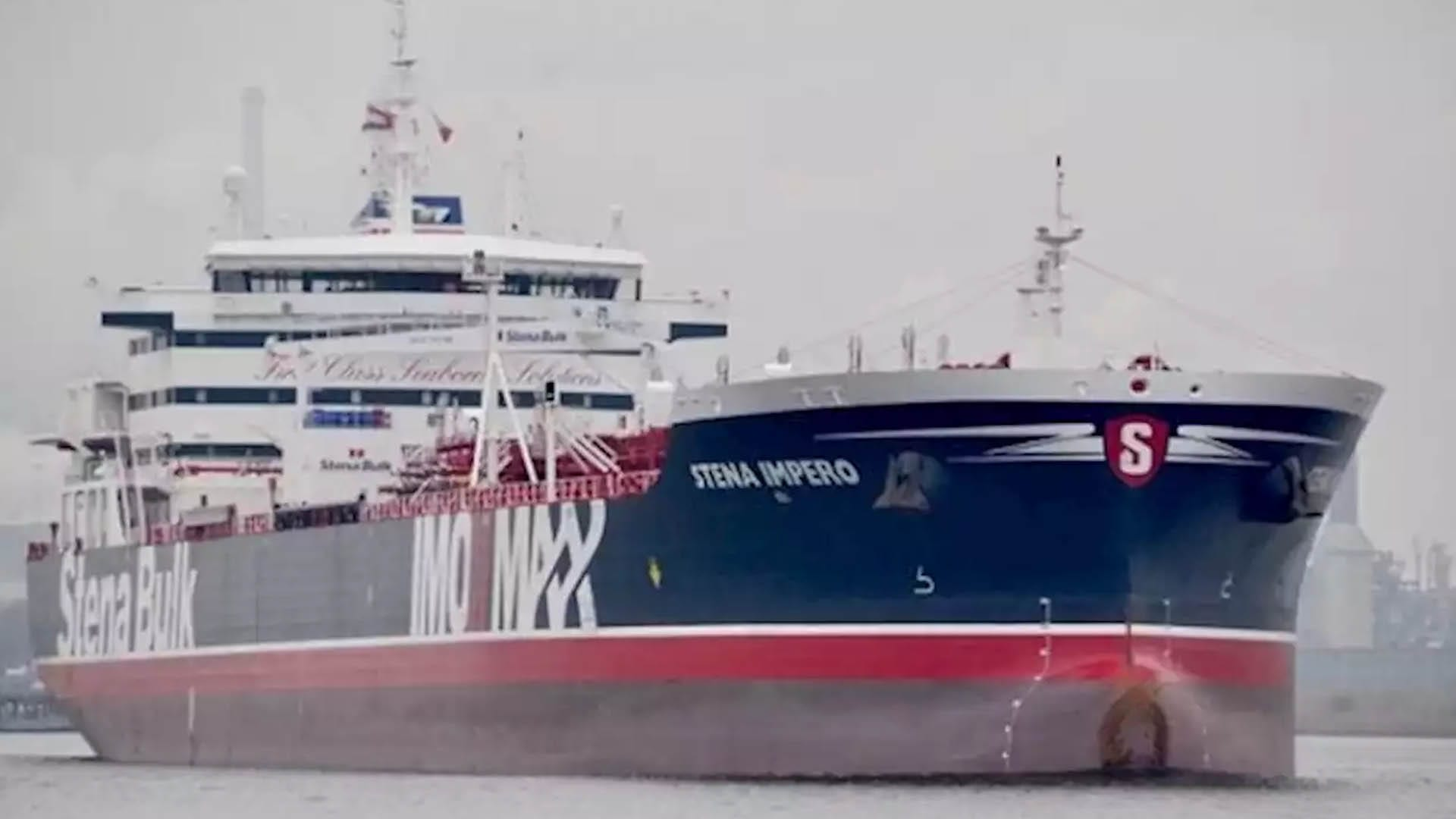 Stena Impero Departs for International Waters