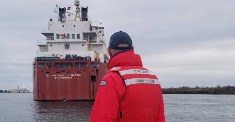 CCG: Self-Unloader Grounds in St. Lawrence Seaway