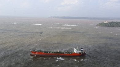 Photo of Chemical Tanker Runs Aground off Goa, India