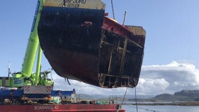Photo of Norway: Wreck of Grounded Cargo Ship Cut Up and Removed