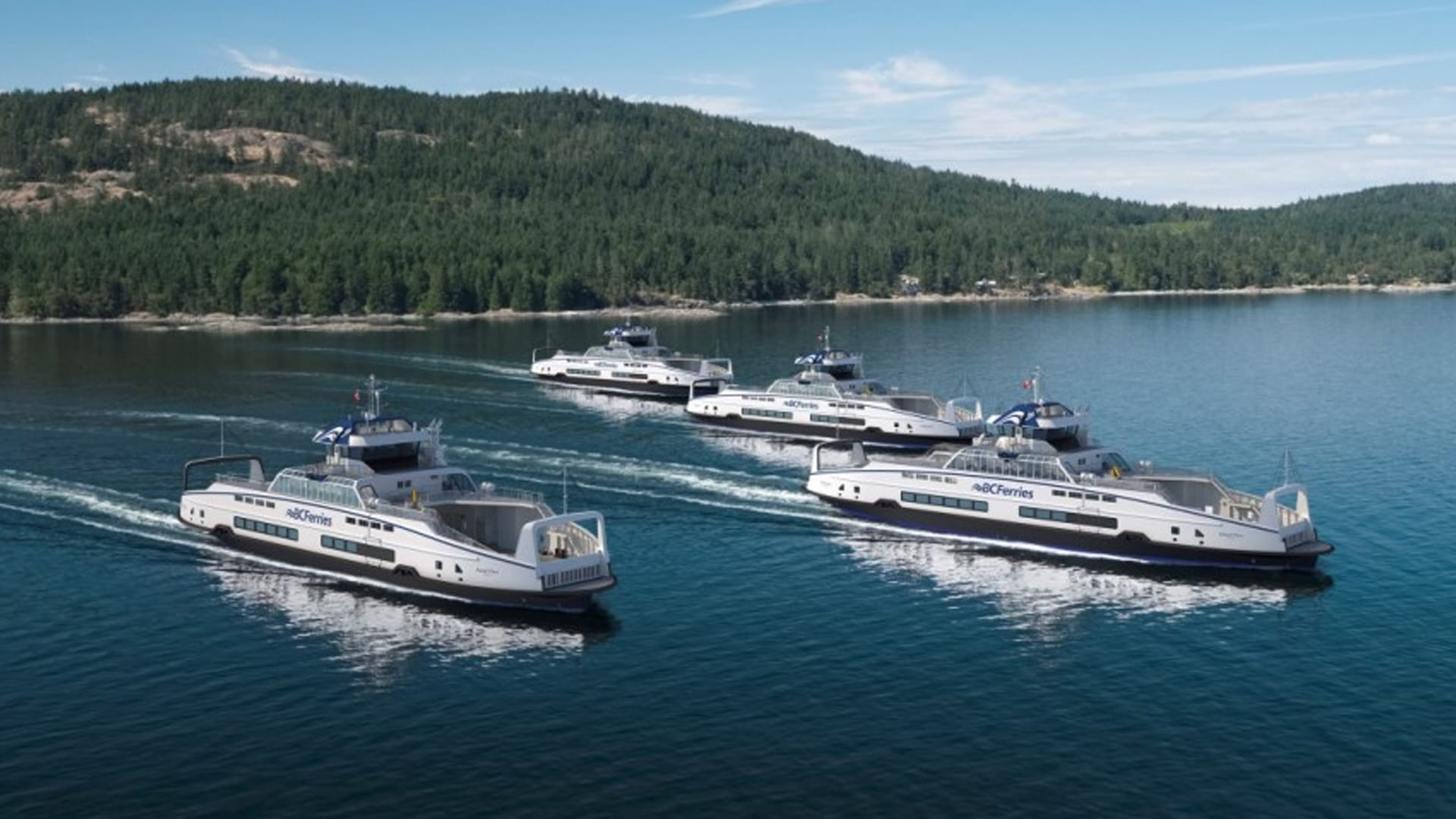 BC Ferries Orders Four More Battery Electric-Hybrid Units from Damen