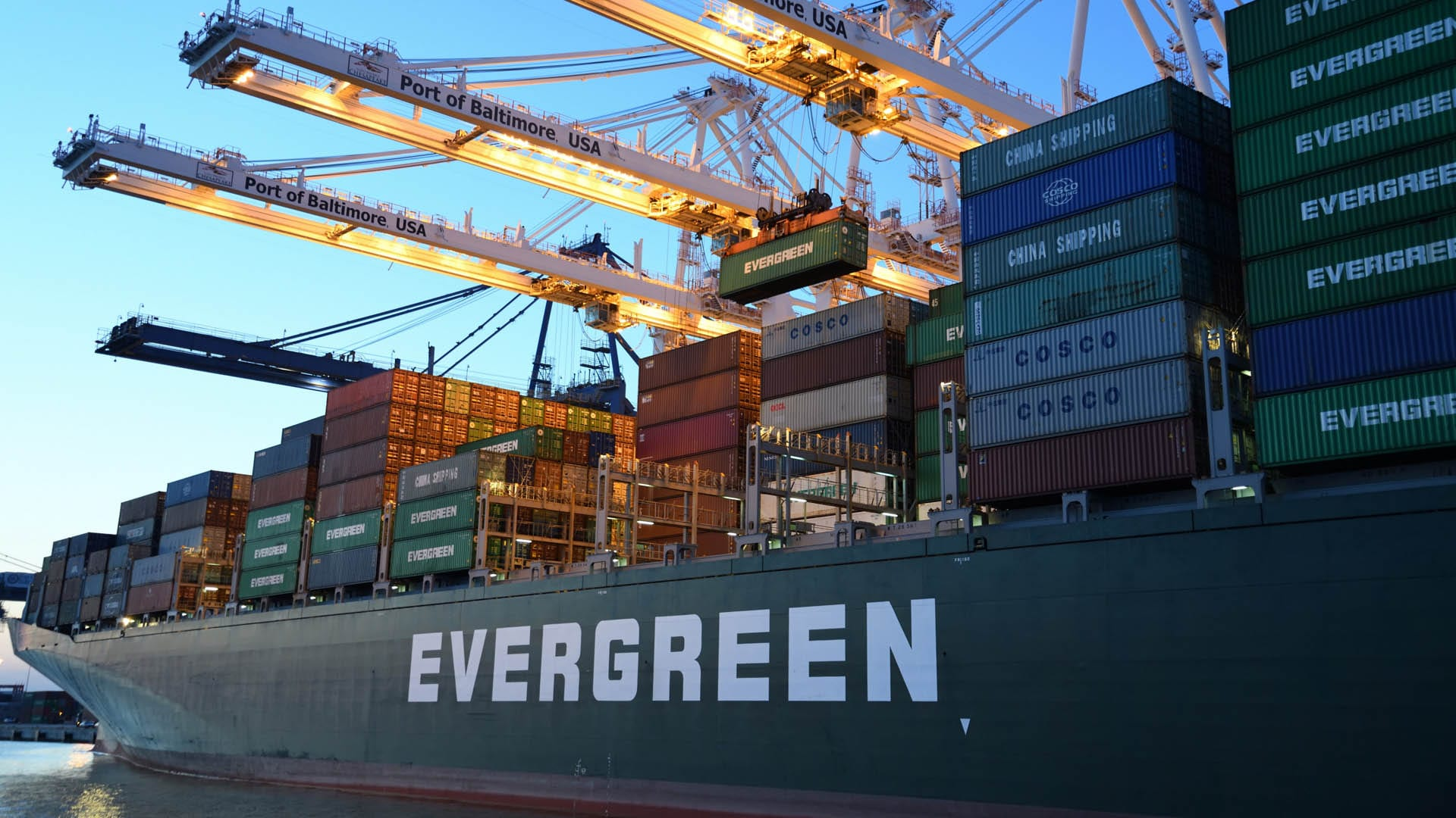 Evergreen Signs Up for Four 23,000 TEU Boxships in China