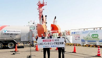 Photo of MOL: First LNG Bunkering Completed at Japanese Port of Nagoya