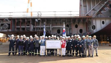 Photo of Samsung Heavy Lays Keel for GasLog's 174,000 cbm LNG Carrier