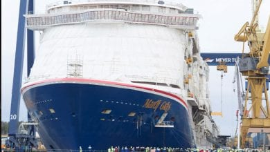 Photo of North America's 1st LNG-Fueled Cruise Ship Floated Out in Finland
