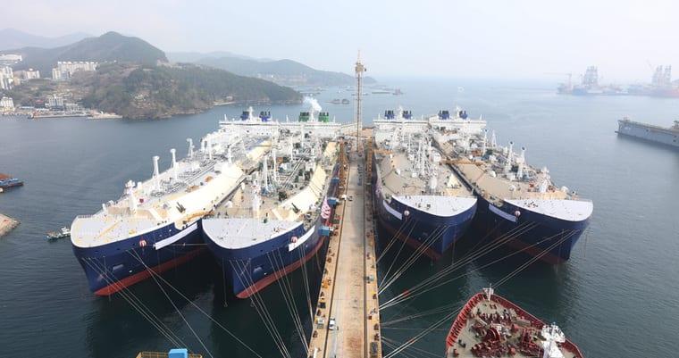 Южнокорейская компания KSOE получила заказ на строительство трёх СПГ-танкеров