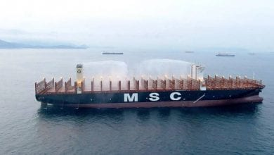 Photo of MSC Awarded DNV GL Containership Fire Safety Notation