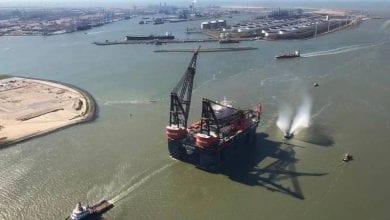 Photo of Gallery: Giant Crane Vessel Sleipnir 'Arrives Home'
