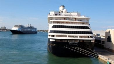 Photo of Two Holland America Cruise Ships Dock in Florida