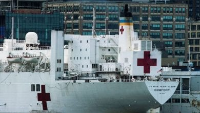 Photo of Hospital Ship USNS Comfort to Start Accepting COVID-19 Patients