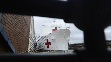 Photo of Patients on US Hospital Ships Test Positive for COVID-19
