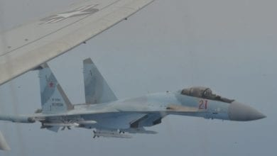 """Photo of Russian Fighters Conduct """"Unsafe"""" Intercept with U.S. Navy P-8A"""