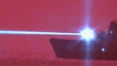 Photo of U.S. Navy Amphib Shoots Down Drone With Laser Weapon Prototype