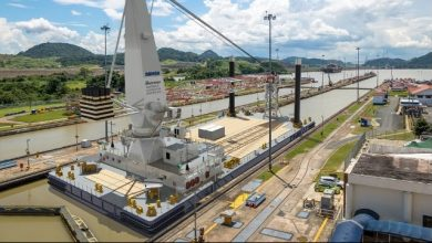 Photo of Damen Lays Keel for 75-meter Crane Barge for Panama Project