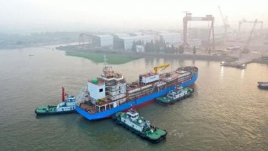 Photo of Singapore's first LNG bunkering vessel launched