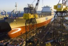 Photo of Matson Launches Second Large Con-Ro at NASSCO Shipyard