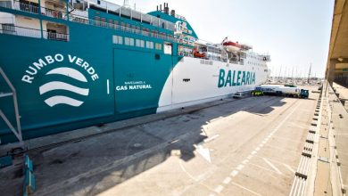Photo of Spanish port in first LNG bunkering