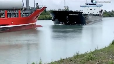 Photo of Head-On Collision in Great Lakes' Welland Canal – Caught on Camera