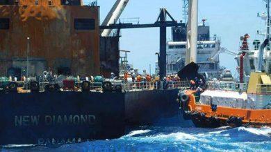Photo of Sri Lanka Working to Stop Fuel Leak from Fire-hit Oil Tanker
