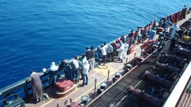Photo of Migrants Disembark Maersk Tanker After 38 Days on Board