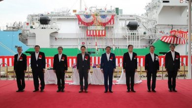 Photo of Japan's First LNG Bunkering Vessel Named at Sakaide Works