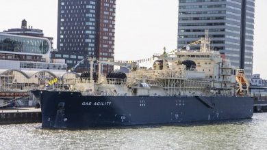 Photo of World's Largest LNG Bunkering Vessel Named in Rotterdam