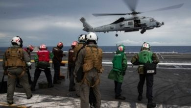 Photo of COVID-19 Cases Identified Aboard Carrier USS Ronald Reagan