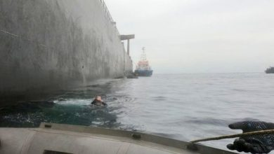 Photo of Salvors Complete Dive Inspection of Fire-Damaged VLCC New Diamond