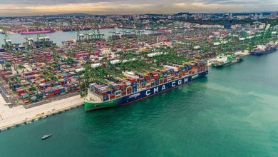 Photo of CMA CGM's New LNG Flagship Takes on Record Container Load