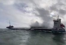 Photo of Video: Disabled Cargo Ship Rescued in Heavy Seas off Ireland