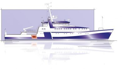 Photo of SCHOTTEL EcoPeller to be installed in inspection vessel for the first time