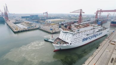 Photo of World's largest civilian hospital ship nears delivery