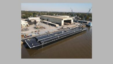 Photo of Conrad Shipyard Delivers Two Inland Asphalt Barges To Parker Towing