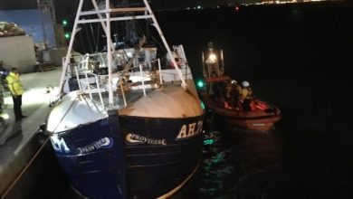 Photo of Volunteer Lifeboat Crew Saves Sinking Fishing Vessel in the North Sea