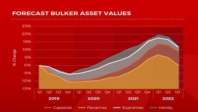 To 2019 and beyond forecasted Bulker, Tanker, Container and LPG values